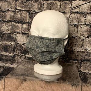 Cotton mask (grey print)